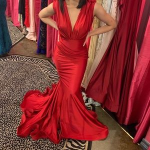 XS Red Prom Issue New York Dress